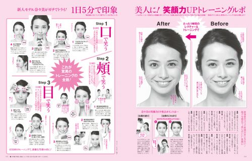 Oggi2014年4月号「笑顔力UPトレーニングルポ」