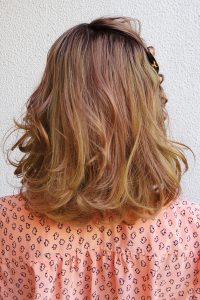 ミックス編みミディアムヘアアレンジ