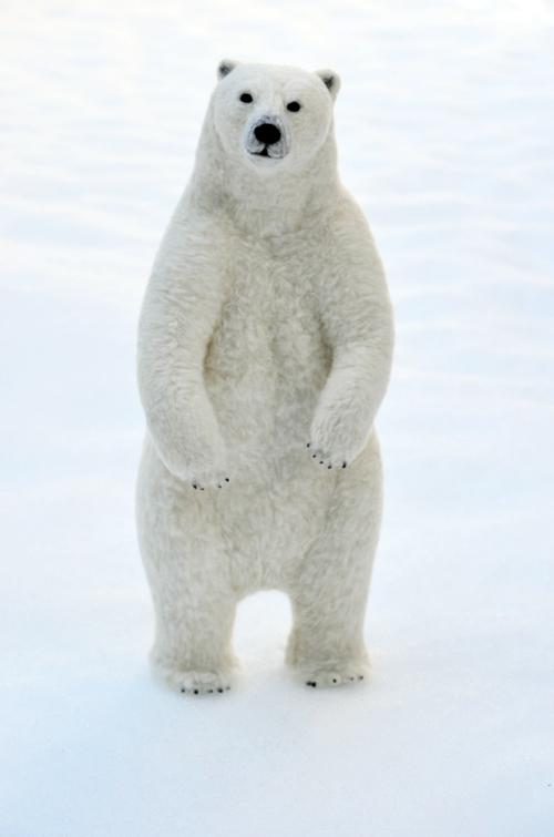 【画像】シロクマがふわふわ!羊毛フェルトの動物たちが可愛すぎる