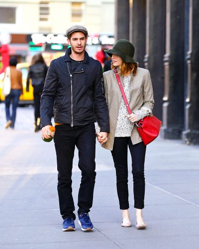 EXCLUSIVE: Lovebirds Andrew Garfield and Emma Stone hold hands while out for a stroll in NYC