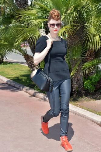 FENDI for Kiesza _Cannes arrival