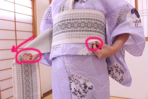自分で浴衣の帯を結ぶ!「割り角出し」の結び方カンタン解説