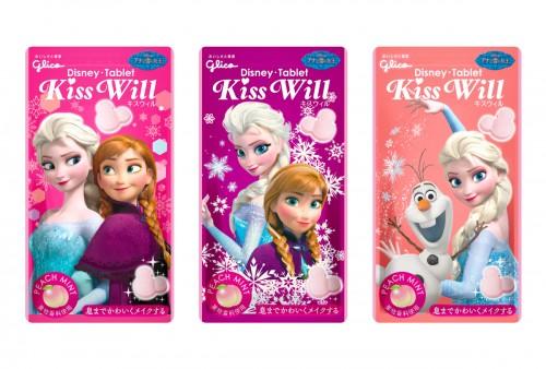 アナと雪の女王コラボ商品_KissWillピーチミント