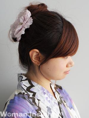 浴衣に似合うヘアアップスタイル