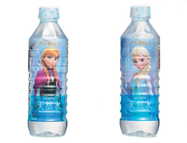 アナと雪の女王コラボ商品_天然水