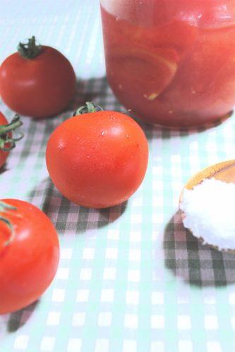 トマトの塩漬け(塩トマト)