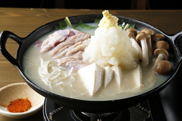 豆乳鍋_阿波尾鶏の豆乳白湯みぞれ鍋