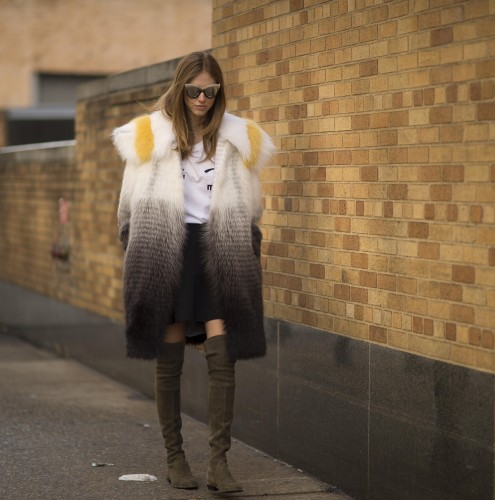 FENDI prefall 2015 fox fur for Chiara Ferragni