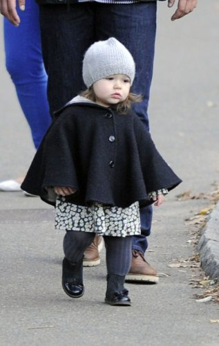 EXCLUSIVE: Harper Beckham goes to see animals in Central Park Zoo in New York City