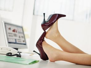 オフィス,職場,ハイヒール,靴,足
