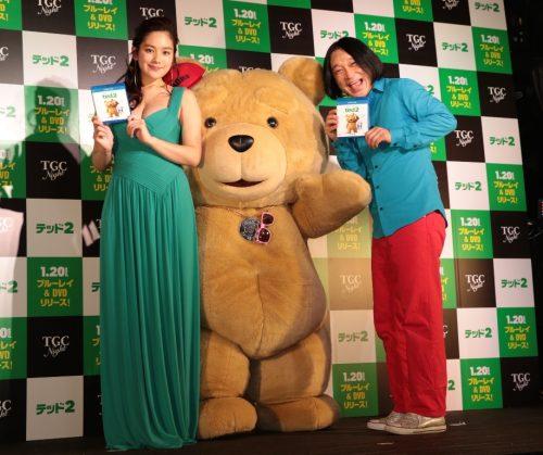 「テッド2」リリースイベント①(筧、永野、テッド)