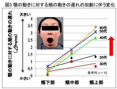 ほお年齢グラフ