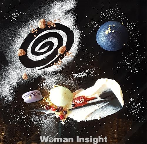 宇宙の日,宇宙と芸術展,かきあげ丼,パフェ,プレート