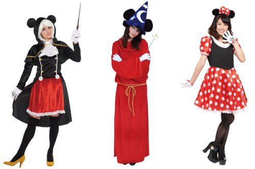 右:ミニーマウス¥5,500、中:ファンタジア¥6,300、左:魔法使い¥8,990