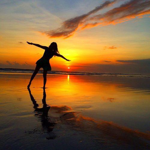 レギャンビーチの夕日