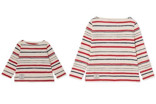 右/ボートネック Tシャツ XXS~L 12,000円左/ボートネック Tシャツ3~5才 7,500円、 6~10才 7,300円