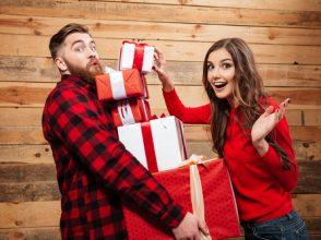 クリスマス,カップル,プレゼント