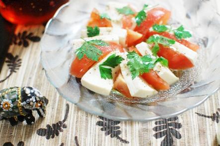 ヘルシー,塩豆腐,カプレーゼ,レシピ