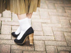 靴下×ヒールのコーデ