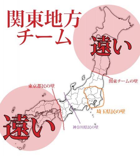 どこから遠い,関東
