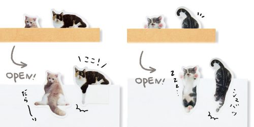 猫,ふせん,フィルム,ノート,フェリシモ