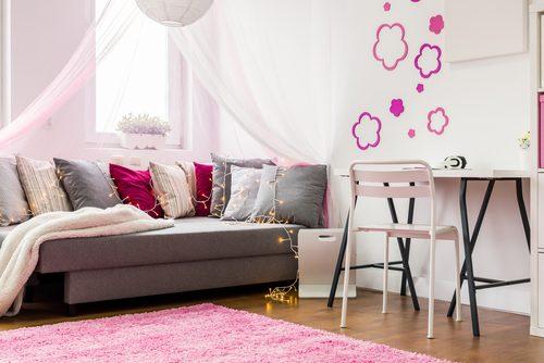 部屋,ピンク