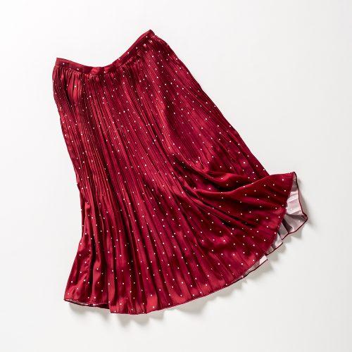 フレンチシックなドットスカート