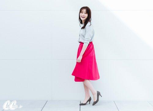 フレアスカート, 秋, スカート, ファッション, コーデ, ピンク