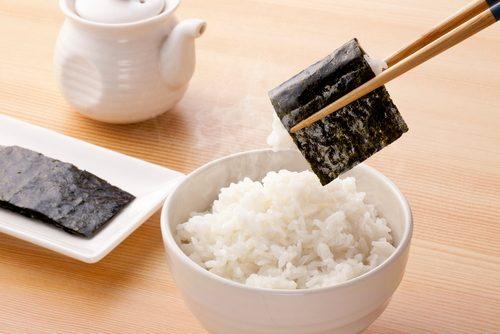海苔,ごはん,ごはんのおとも,米