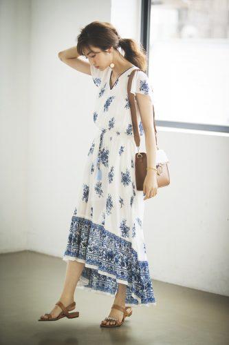 堀田茜,ボヘミアン,ワンピース,コーデ,ファッション