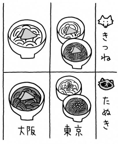 通じない,誤解される,方言,たぬきそば,東京,大阪
