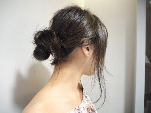 黒髪さんに似合う簡単夏アレンジヘア