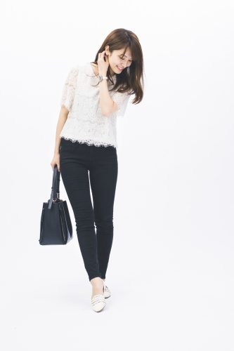 CanCam it girl,佐藤真瑚,モノトーン,オフィススタイル,ファッション
