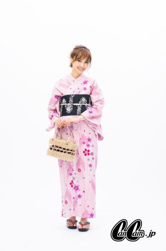 CanCam it girl,小柄,浴衣,コーデ,コツ,渡辺光沙子