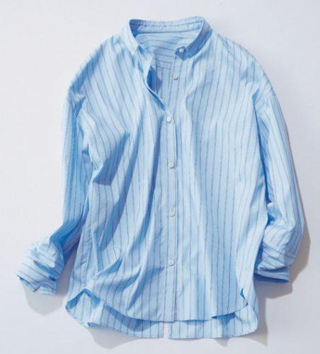 スタイリスト,丸林広奈,まるちゃん,NOLLY'S,抜き襟,ストライプシャツ