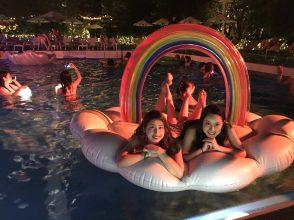 CanCam,Night Pool,ナイトプール,インスタ映え,写真映え,フォトジェニック,東京タワー,ビッグフロート