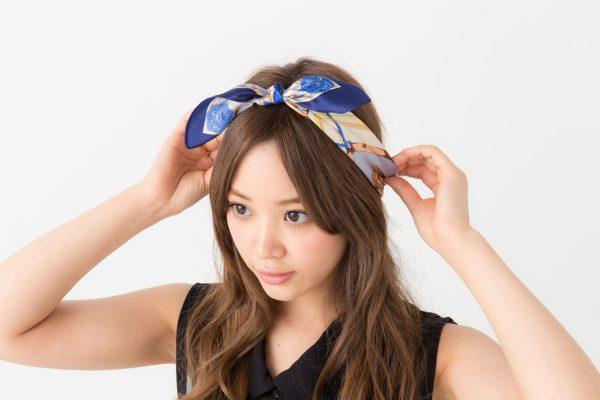 ■スカーフを使ったギブソンヘアアレンジ♡