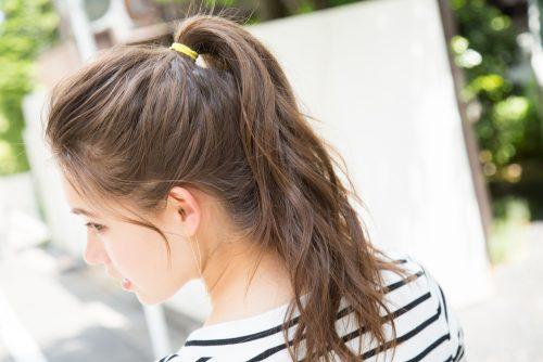 前髪なし×ポニーテールがスポーティでかわいい!