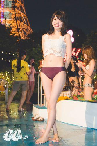 CanCam,Night Pool,ナイトプール,水着,スナップ