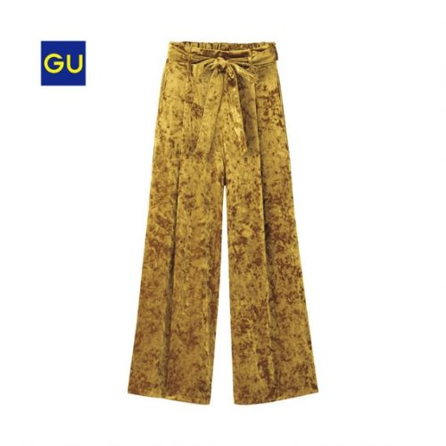 GU,秋,新作,ベロア,ファッション,トレンド,ワイドパンツ