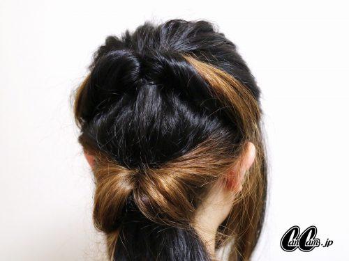 ■くるりんぱ×バンダナですっきりまとめ髪