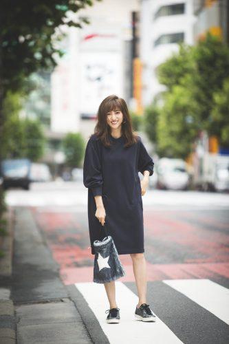 堀田茜, 秋, ファッション, コーディネート, ワンピース