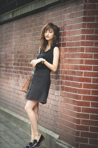 堀田茜, 秋, ファッション, コーディネート, スクールガール, スカート, チェック