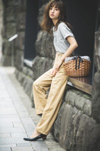 堀田茜 , 秋, ファッション, コーディネート, ファーバッグ, Tシャツ