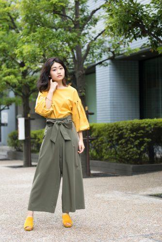 CanCam it girl,谷山響,マスタードカラー,ファッション