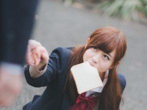 女子高生,食パン
