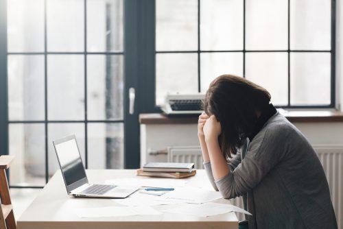 過緊張,原因,仕事,ビジネスウーマン,女性