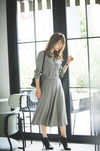 堀田茜 , 秋, ファッション, コーディネート, セットアップ