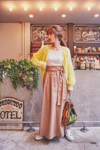 ニットカーディガン,着こなし,ファッション,季節の変わり目, 秋, ファッション, コーディネート