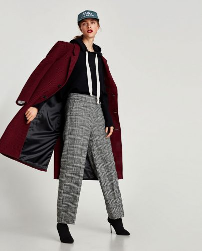グレンチェック,トレンド,ZARA,秋,ファッション